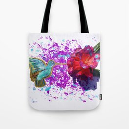 Rhododendron Hummingbird Tote Bag