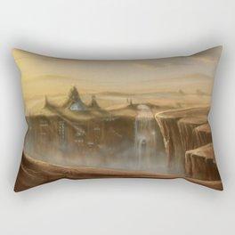 Canion Village Fantasy Landscape Rectangular Pillow