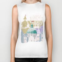 copenhagen Biker Tanks featuring Copenhagen Collage by Tokyo Rose