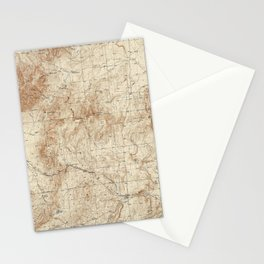 New Mexico Topographical Map print from 1934 Stationery Cards