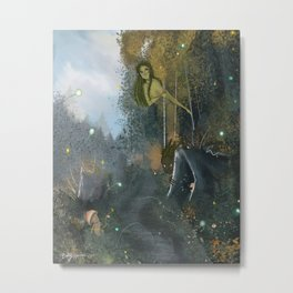 The Forest Lives Metal Print