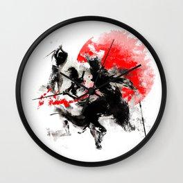 Samurai Duel Wall Clock
