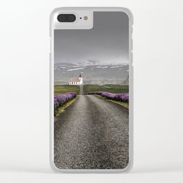 Church and nature Clear iPhone Case