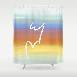 W&V Rises with the Sun Shower Curtain