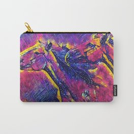 Abstract Wild Horses Carry-All Pouch