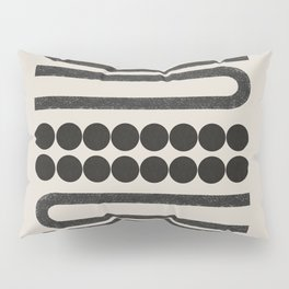 Abstract Woodblock Art Pillow Sham