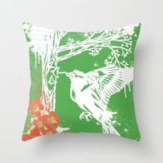 Goldfinch Mother - Spring Explosion Throw Pillow