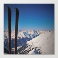 ski Canvas Prints featuring ski by Vi Glory