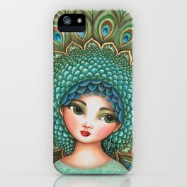 Peacock girl iPhone Case