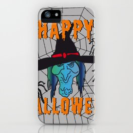 turquoise Witch Happy Halloween iPhone Case