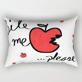 Bite me Please Apple Rectangular Pillow