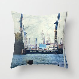 The Dock of the Bay Throw Pillow