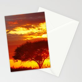 Glowing African Morning Stationery Cards