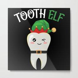 Tooth Elf Oral Hygiene Dentistry Dentist Metal Print