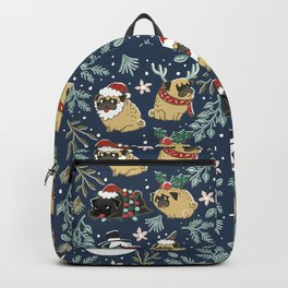 Christmas Pugs Backpack
