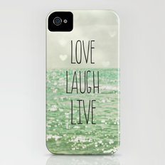 Love Laugh Live Slim Case iPhone (4, 4s)