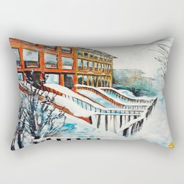 Brooklyn New York In Snow Storm Rectangular Pillow
