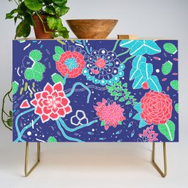 Flowers and Cactus Credenza