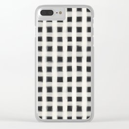 geo brush square Clear iPhone Case