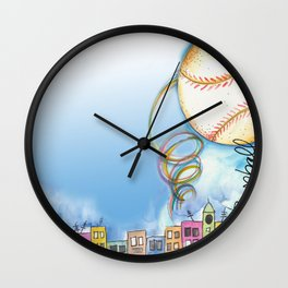 Love Baseball Wall Clock