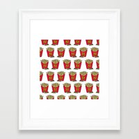 french fries Framed Art Prints featuring French Fries by Mobii