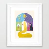 rapunzel Framed Art Prints featuring Rapunzel by Rob Yeo Design