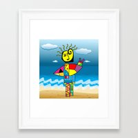 surfer Framed Art Prints featuring Surfer by Moisés Ferreira