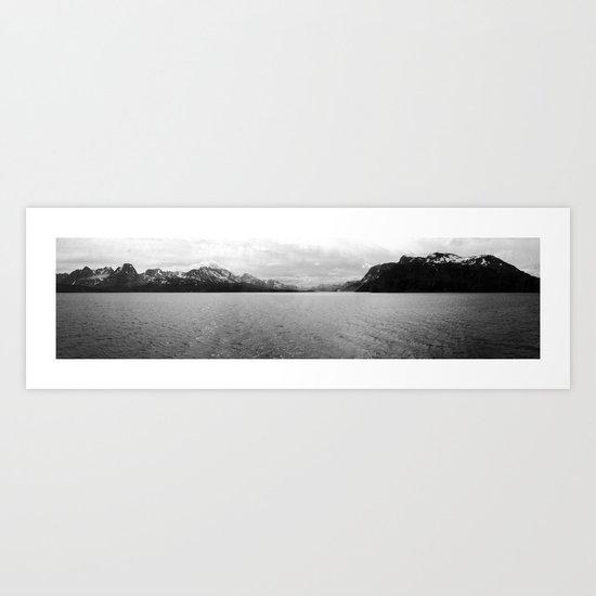 lenscape panorama, norway. Art Print