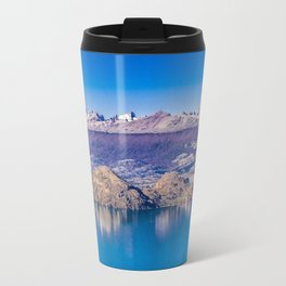 Lake and Mountains Landscape, Patagonia, Chile Travel Mug