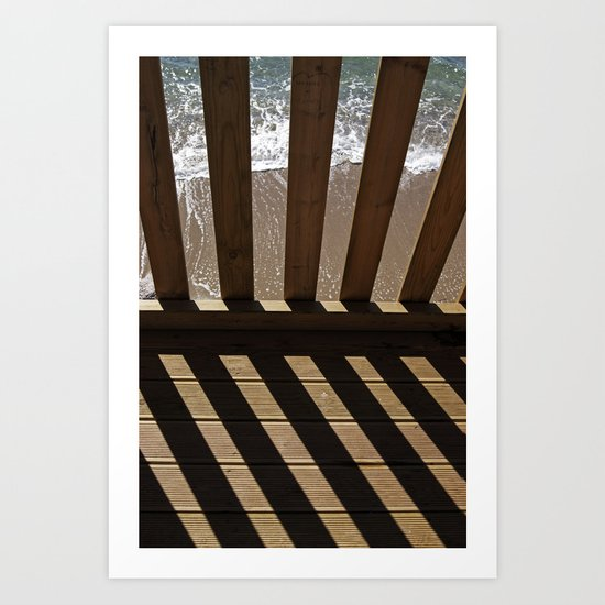 Parallel shadows 3 Art Print