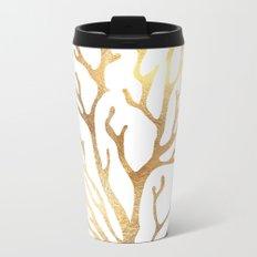 Gold Coral Travel Mug