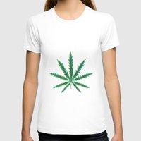 cannabis T-shirts featuring Marijuana. Cannabis leaf  by artskvortsova