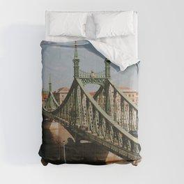 Liberty Bridge, Budapest, Hungary Comforters