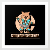 the mortal instruments Art Prints featuring Mortal Wombat by Sombras Blancas Art & Design