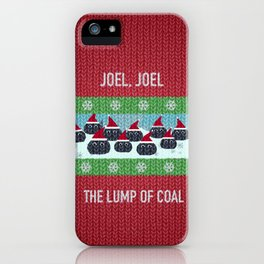 Lump of Coal / Christmas Sweater iPhone Case