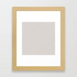 Hexagon Light Gray Pattern Framed Art Print
