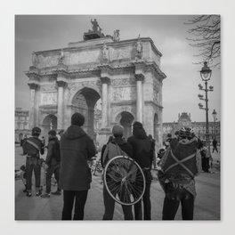 Cyclists, Le Louvre, Paris Canvas Print