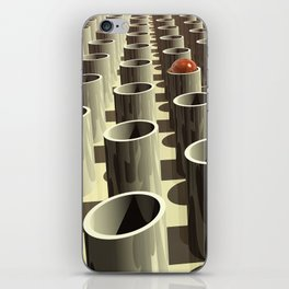 Stockyard of Cylinders iPhone Skin