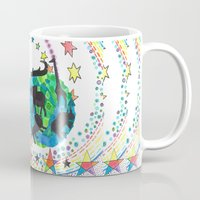 katamari Mugs featuring Earth Beetle by Adrienne S. Price