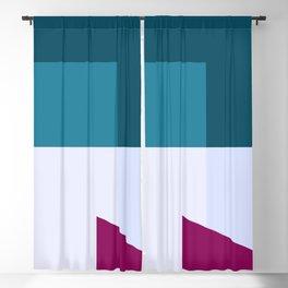 Pretty Blue #illustration #geometrical #art Blackout Curtain