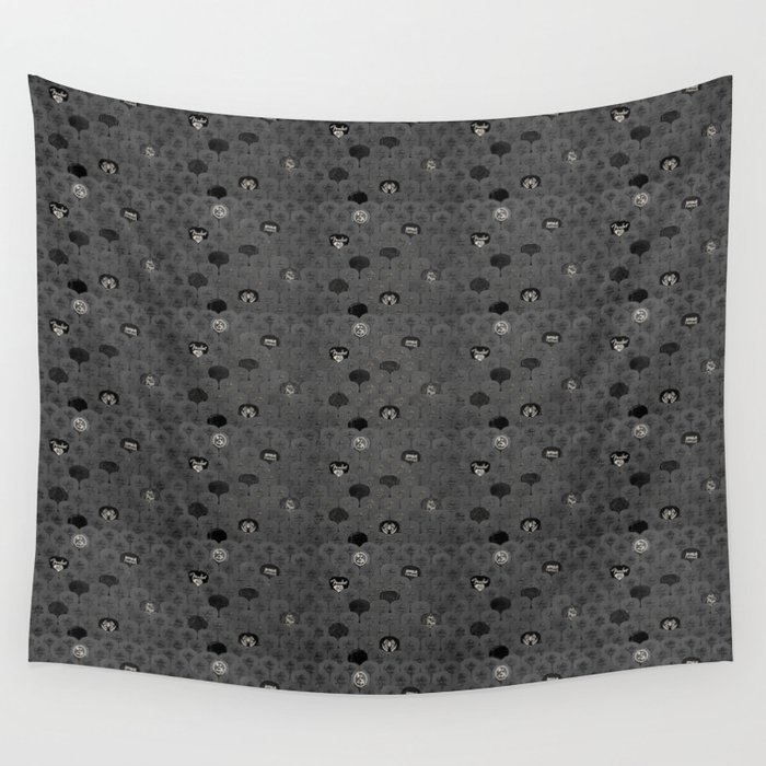 Rock Scales (Black and White) Wall Tapestry