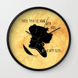 Those That Lie Down With Dogs, Get Up with Fleas Wall Clock