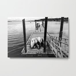 Sittin' on the Dock of the Bay Metal Print