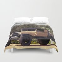 truck Duvet Covers featuring Tulip Truck by Manda's Photography
