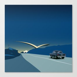 "Soviet Modernism: ""Seagull"" road mark at the northern entry of Yerevan Canvas Print"