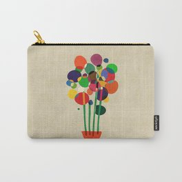 Happy flowers in the vase Carry-All Pouch