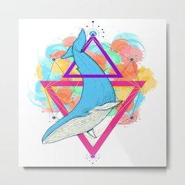 Blue Whale Design Metal Print