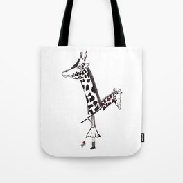 Giraffe Girl Tote Bag
