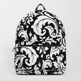 Damask Paisley Black and White Paisley Pattern Vintage Backpack