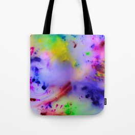 Abstract 009 The Dancer Wax Painting Tote Bag